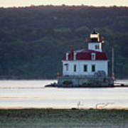 Sunrise At The Esopus Lighthouse Art Print