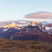 Sunrise At The Swiss Alps Art Print