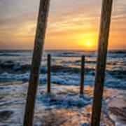 Sunrise Between The Pillars Landscape Photograph Art Print