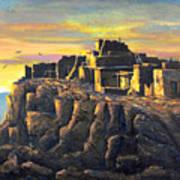 Sunrise Citadel Art Print
