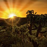 Sunrise Done With An Arizona Flare Art Print