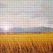 Sunrise Field 1 - Mosaic Tile Effect Art Print
