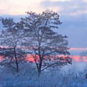 Sunrise Fog Art Print