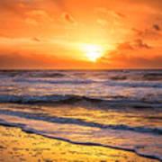 Sunrise Gulf Shores Alabama Beach Art Print
