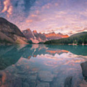 Sunrise Hour At Banff Art Print