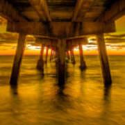Sunrise In Ft Lauderdale Pier Art Print