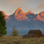 Sunrise In Jackson Hole Art Print