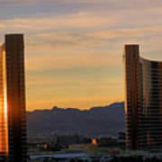 Sunrise In Las Vegas Art Print