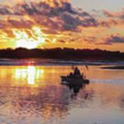 Sunrise In Murrells Inlet, Sc Art Print