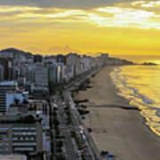 Sunrise In Rio De Janeiro Art Print