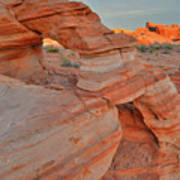 Sunrise In Valley Of Fire State Park Art Print