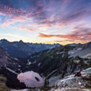 Sunrise Into The Lake Art Print