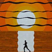 Sunrise Jogger Art Print