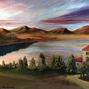 Sunrise Lake Art Print
