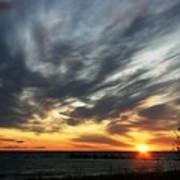 Sunrise Lake Huron 3 Art Print