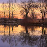 Sunrise Lake Reflections Art Print