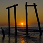 Sunrise At Ocean City Art Print