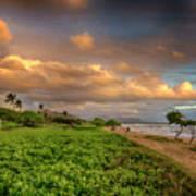 Sunrise Nukolii Beach Kauai Hawaii 7r2_dsc4068_01082018 Art Print