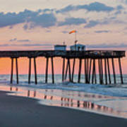 Sunrise Ocean City Fishing Pier Art Print