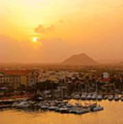 Sunrise On Aruba Art Print
