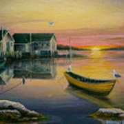 Sunrise On Blue Rocks 2 Art Print