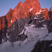 1m9380-sunrise On Grand Teton  Art Print