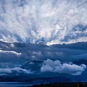 Sunrise On Lake Annecy Art Print