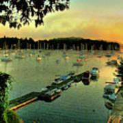Sunrise On Mallet's Bay Art Print