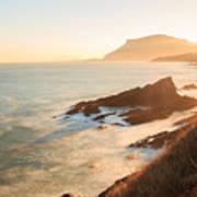 Sunrise On The Cantabrian Coast In Muskiz Art Print