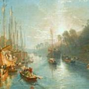 Sunrise On The Grand Canal Art Print