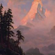 Sunrise On The Matterhorn         Art Print