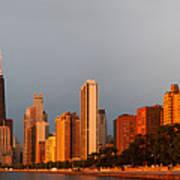 Sunrise Over Chicago Art Print