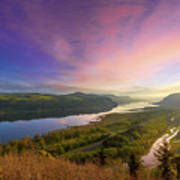 Sunrise Over Columbia River Gorge Art Print