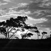 Sunrise Over Fort Salonga B W Art Print