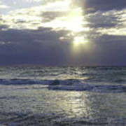 Sunrise Over Gulf Of Mexico Art Print