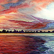 Sunrise Over Indian Lake Art Print