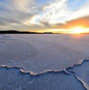 Sunrise Over Lake Gairdner, Art Print