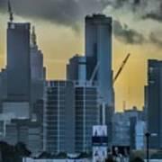 Sunrise Over Melbourne Art Print