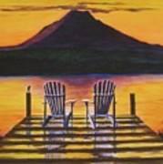 Sunrise Over Rainier Art Print