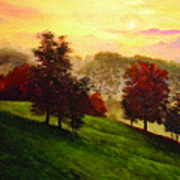 Sunrise Over Shenandoah Valley Art Print