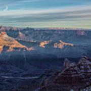Sunrise Over The Grand Canyon Art Print