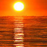 Sunrise Over The Lake 2 Art Print