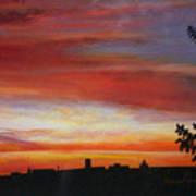 Sunrise Over The Little Miami Art Print
