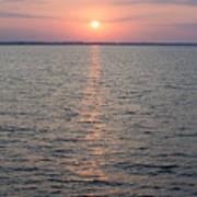 Sunrise Over The Sea Horizon Art Print