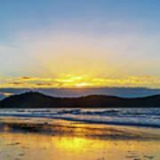 Sunrise Seascape And Crepuscular Rays Art Print