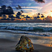 Sunrise Seascape Wisdom Beach Florida C3 Art Print