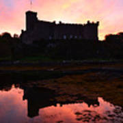 Sunrise Silhouetting Dunvegan Castle S Art Print