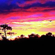 Sunrise Sunset Delight Or Warning Art Print