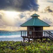 Sunrise Tower At The Beach Art Print