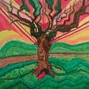Sunrise Treeair Art Print